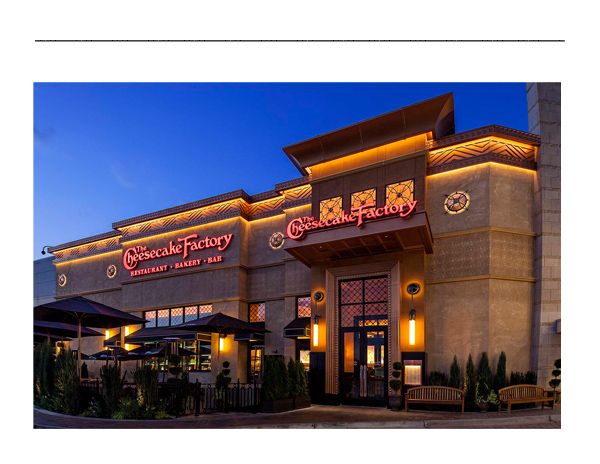 The Cheesecake Factory Twelve Oaks Mall Novi Michigan